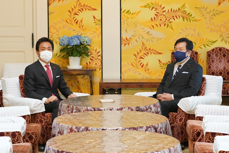 玉木代表が立憲民主党の枝野代表と党首会談