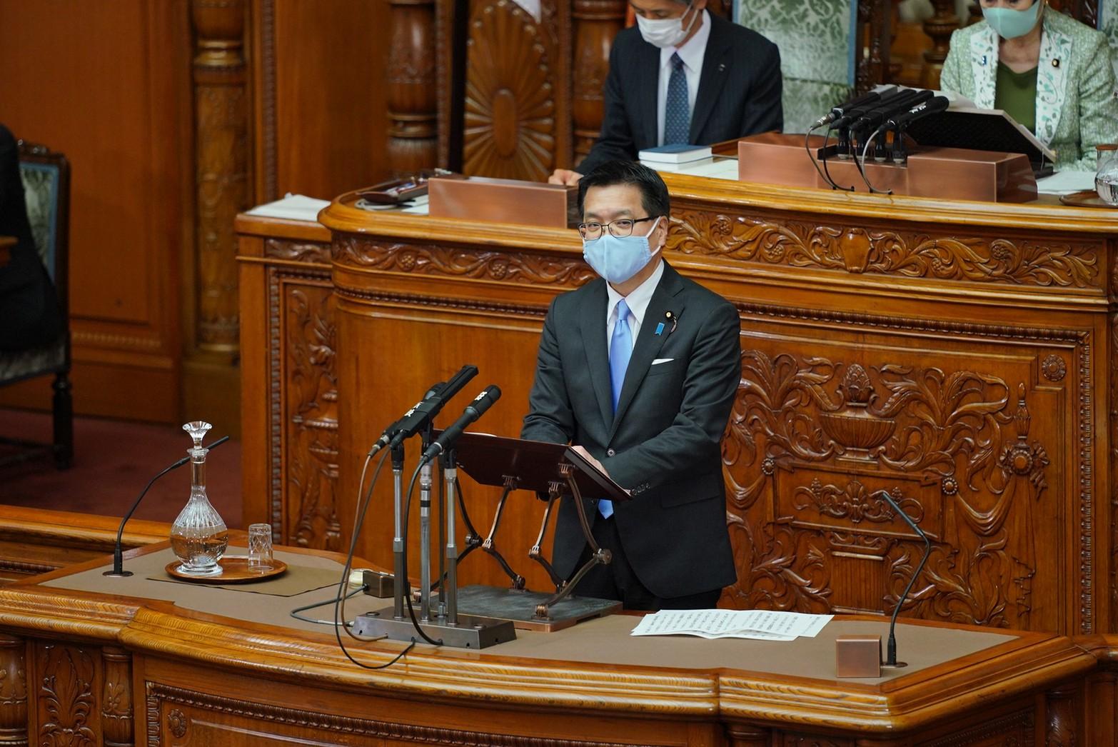 【参本会議】浜口参議院議員が「地球温暖化対策推進法案」について質問