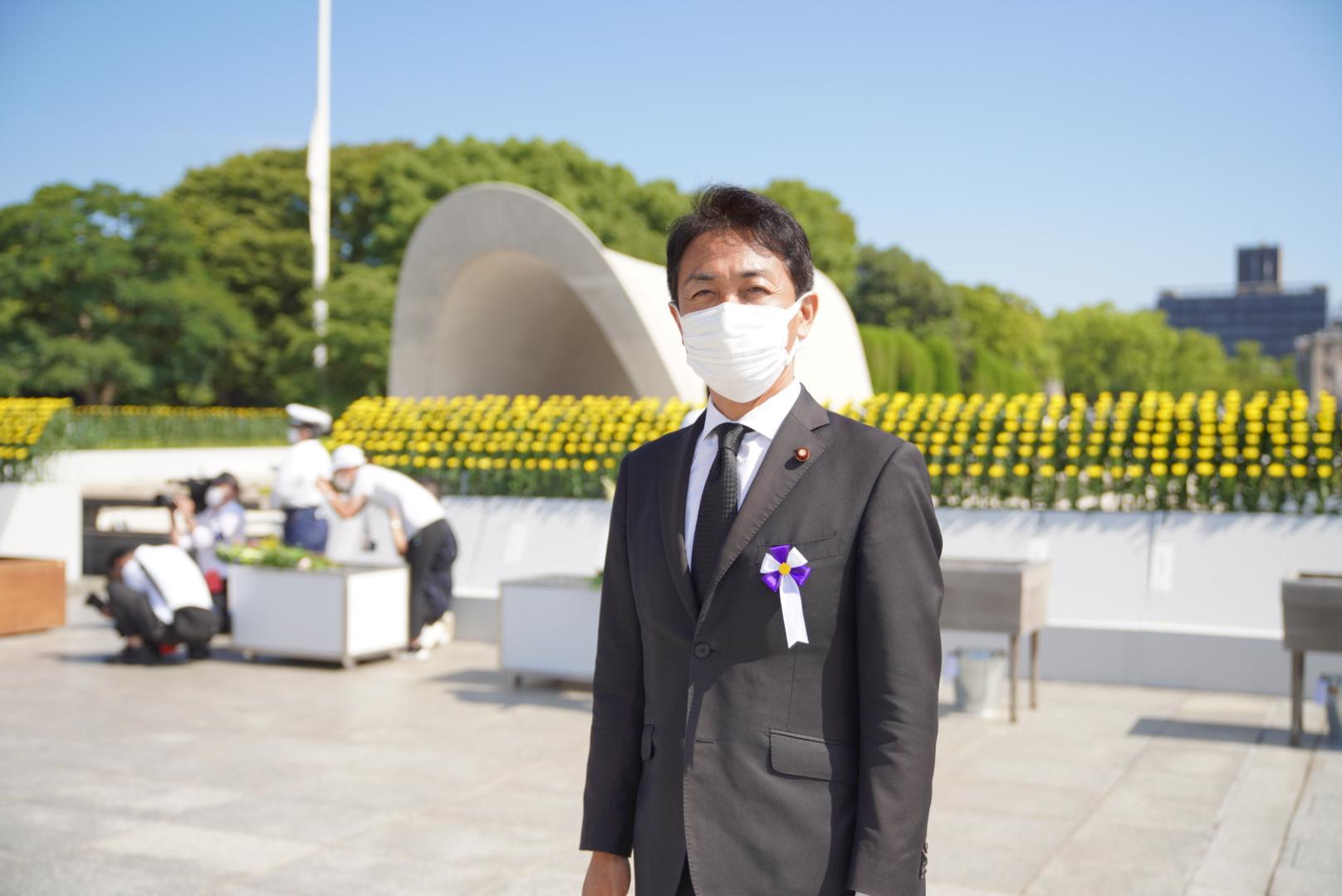 【広島】玉木代表が広島市原爆死没者慰霊式並びに平和祈念式に参列